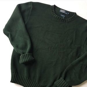 90s Vintage Ralph Lauren Crewneck Green Sweater